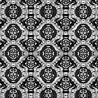 Black And White Tones Seamless Abstract Ornate Baroque Pattern by artonwear