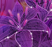 Purple Abstract Lili Design by artonwear