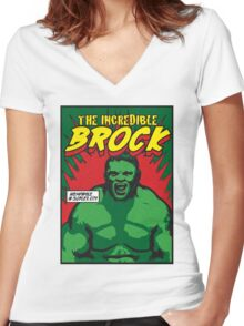 The Incredible Brock Women's Fitted V-Neck T-Shirt