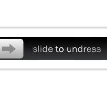 Slide to Undress Sticker