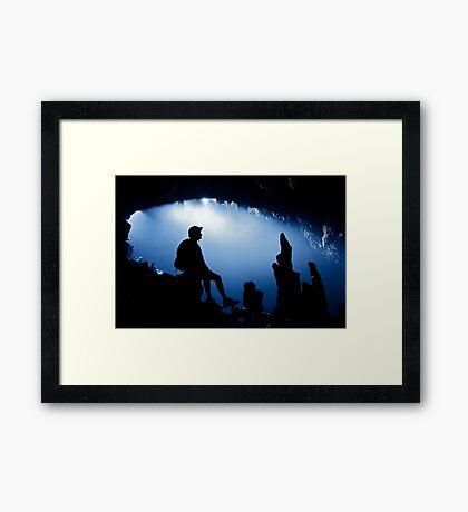 White Cliff Cave, Thailand Framed Print
