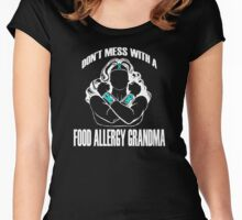 Don't Mess with a Food Allergy Grandma Women's Fitted Scoop T-Shirt