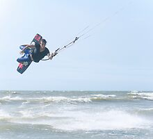 Kite Surfer at Jhunan Beach by Jeff Harris