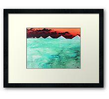 Desert of Frozen Cyanide  Framed Print