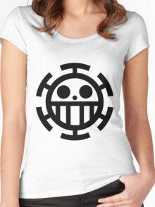 Heart pirates symbol - Trafalgar Law  Women's Fitted Scoop T-Shirt