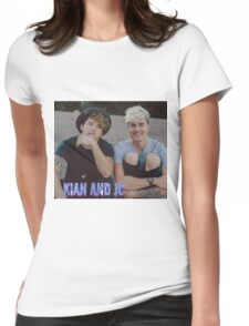 Kian and Jc sitting small blue purple name Womens Fitted T-Shirt