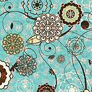 Cute Abstract Retro Floral Pattern by artonwear