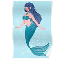 Blue Mermaid Poster