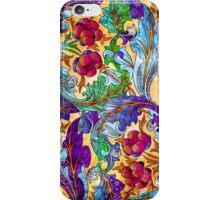 Colorful Elegant Retro Floral Design iPhone Case/Skin