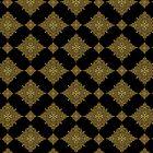 Black And Brown Geometric Seamless Ornamental Pattern by artonwear