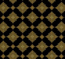 Black And Brown Geometric Seamless Ornamental Pattern by artonwear