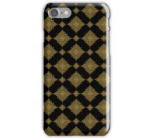 Black And Brown Geometric Seamless Ornamental Pattern iPhone Case/Skin