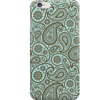 Brown And Blue Ornate Vintage Paisley Design iPhone Case/Skin