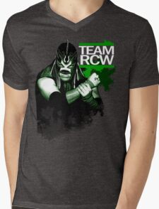 "TEAM RCW ""Fight the Power"" Del Taurino Mens V-Neck T-Shirt"