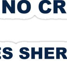 All peace and no crimes makes Sherlock a bored boy. Sticker