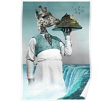 giraffe waiter 02 Poster