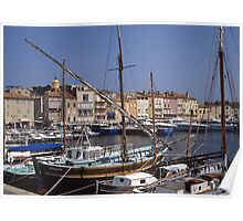 Traditional Fishing Boats St Tropez Poster