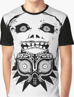 Majora's mask - Black Graphic T-Shirt