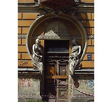 Derelict Art Nouveau Doorway Photographic Print