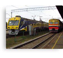 Latvian Trains Canvas Print