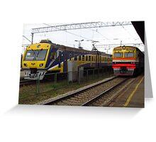 Latvian Trains Greeting Card