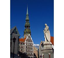 Town Hall Square, Riga Photographic Print