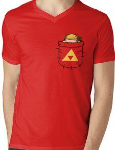 Pocket Link (with triforce) Mens V-Neck T-Shirt
