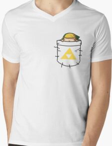 Pocket Link (with triforce) Mens V-Neck T-Shirt