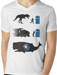 Time travel is dangerous Mens V-Neck T-Shirt