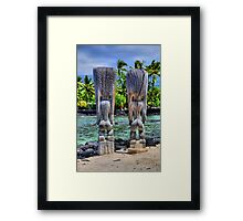 Buns Of Wood Framed Print