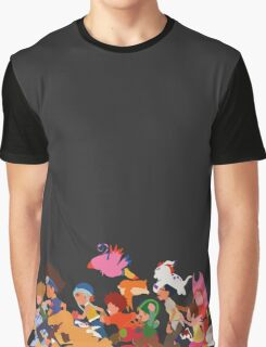 Digidestined and their digimons silhouettes (Digimon Adventure) Graphic T-Shirt
