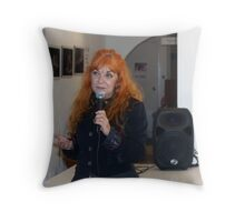 Lesley Dimmick, manager Tap Gallery, Darlinghurst. Throw Pillow