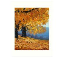 Golden Fall Trees Art Print