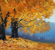 Golden Fall Trees by Graham Gercken