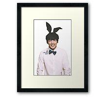Bunny Jungkook BTS  Framed Print