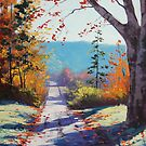 Autumn road Painting by Graham Gercken