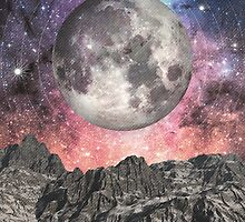 Moon Over Mountain Lake by Phil Perkins