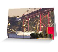 """Dar Mlodziezy"" Tall Ship, Lisbon Greeting Card"
