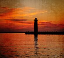Lighthouse Silhouette by Kadwell