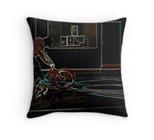 Neon Rider Throw Pillow