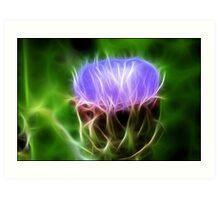 Artichoke Flower: Fractalius Art Print