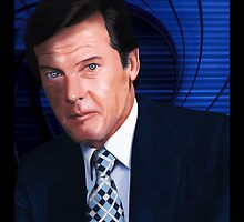 Roger Moore-James Bond by Andrew Wells