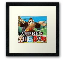 where is the dong Framed Print