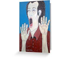 """""""THE SCREAM OF THE 2000"""" Greeting Card"""