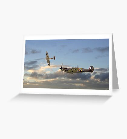 Spitfire - 'Home and Tea' Greeting Card