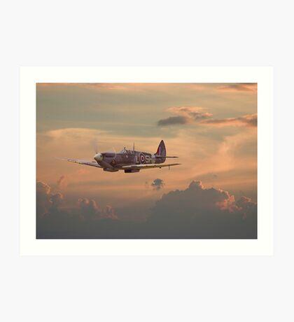 Spitfire - Evening Return Art Print