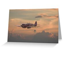 Spitfire - Evening Return Greeting Card