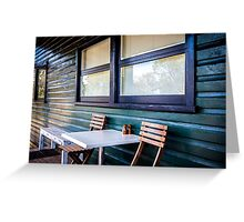 Sitting in a Cafe in Sydney national park. Greeting Card