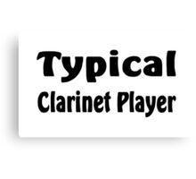 Clarinet Canvas Print