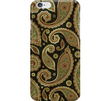 Pastel Brown Tones Vintage Paisley With Touch Of Gold iPhone Case/Skin